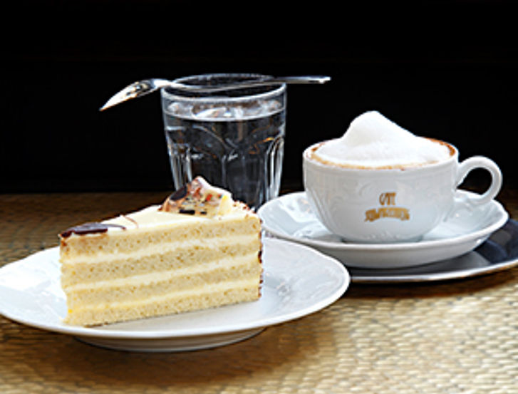 For the perfect coffee break: Klimt cake and Viennese Melange